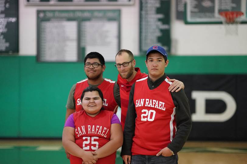 SRHS+students+taking+part+in+Unified+Sports+basketball+tournaments.